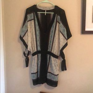 Free People Printed Top/Cover Up